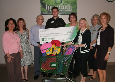 $5,000 Donation to Interfaith for School Supplies