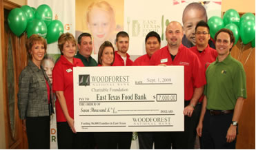 Woodforest Charitable Foundation and Woodforest National Bank Makes First Donation to Hunger Action