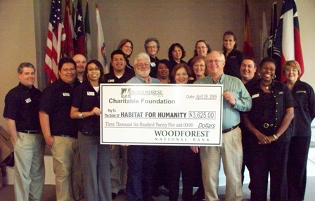 Woodforest National Bank Makes a Donation to the Local Habitat for Humanity Chapter
