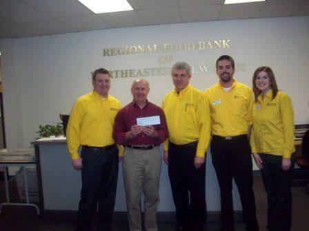 Regional Food Bank of Northeastern New York Receives $400 Donation