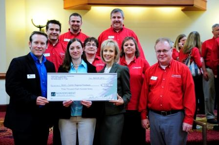 Akron - Canton Regional Food Bank receives $3,890 donation from Woodforest Charitable Foundation.
