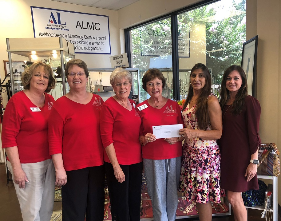 Assistance League of Montgomery County received a $30,000 donation from WCF.