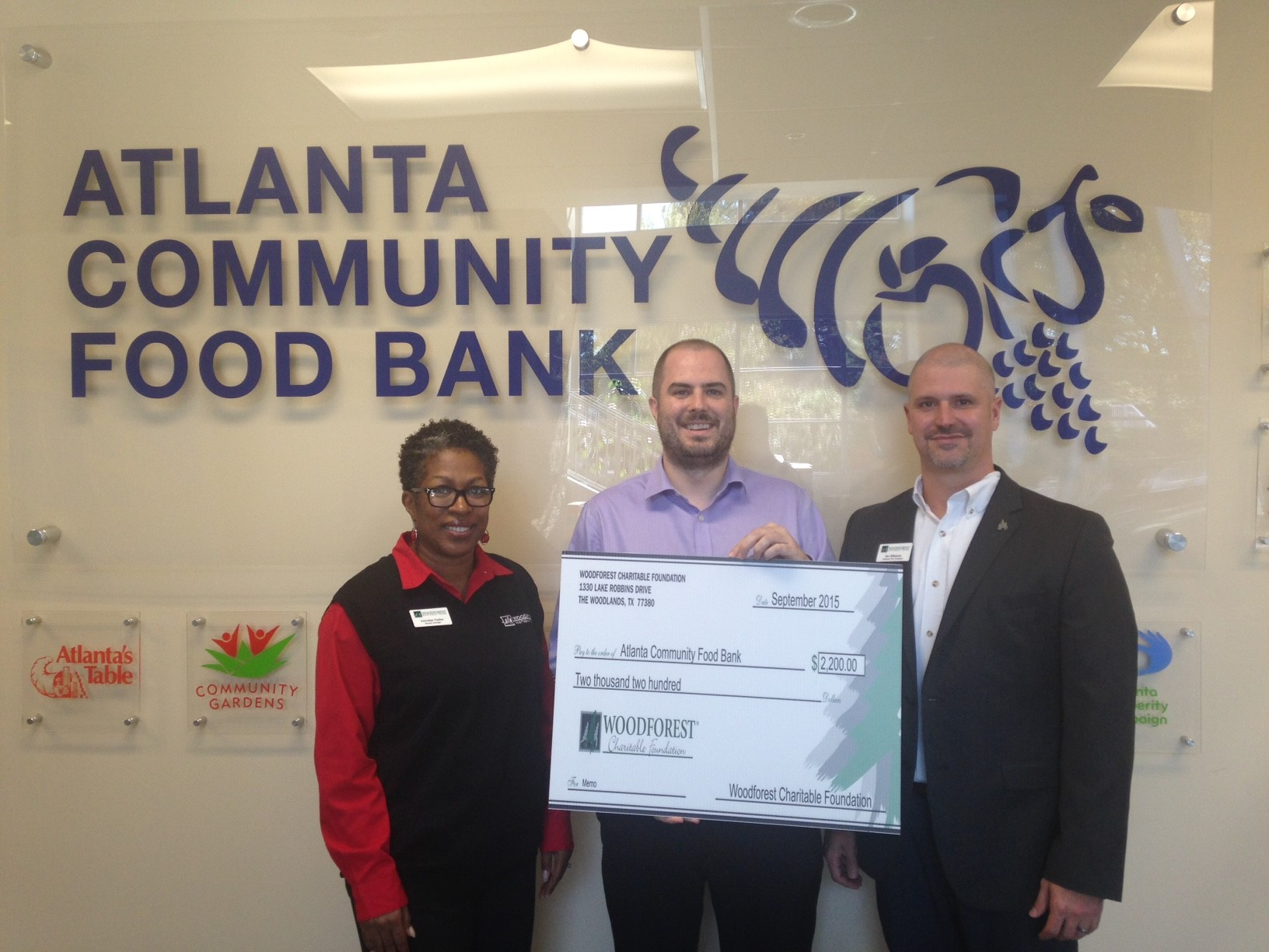 Atlanta Community Food Bank receives a $1,800 donation from WCF.