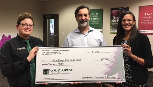 Blue Ridge Area Food Bank recently received a $11,000 donation from WCF.