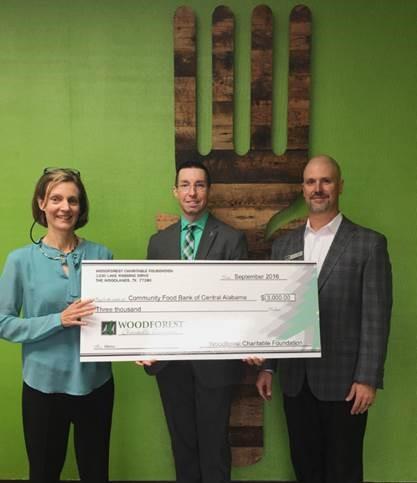 Community Food Bank of Central Alabama received $3,000 fom WCF