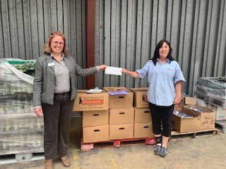 West Alabama Food Bank recently received a $1,480 donation from WCF.