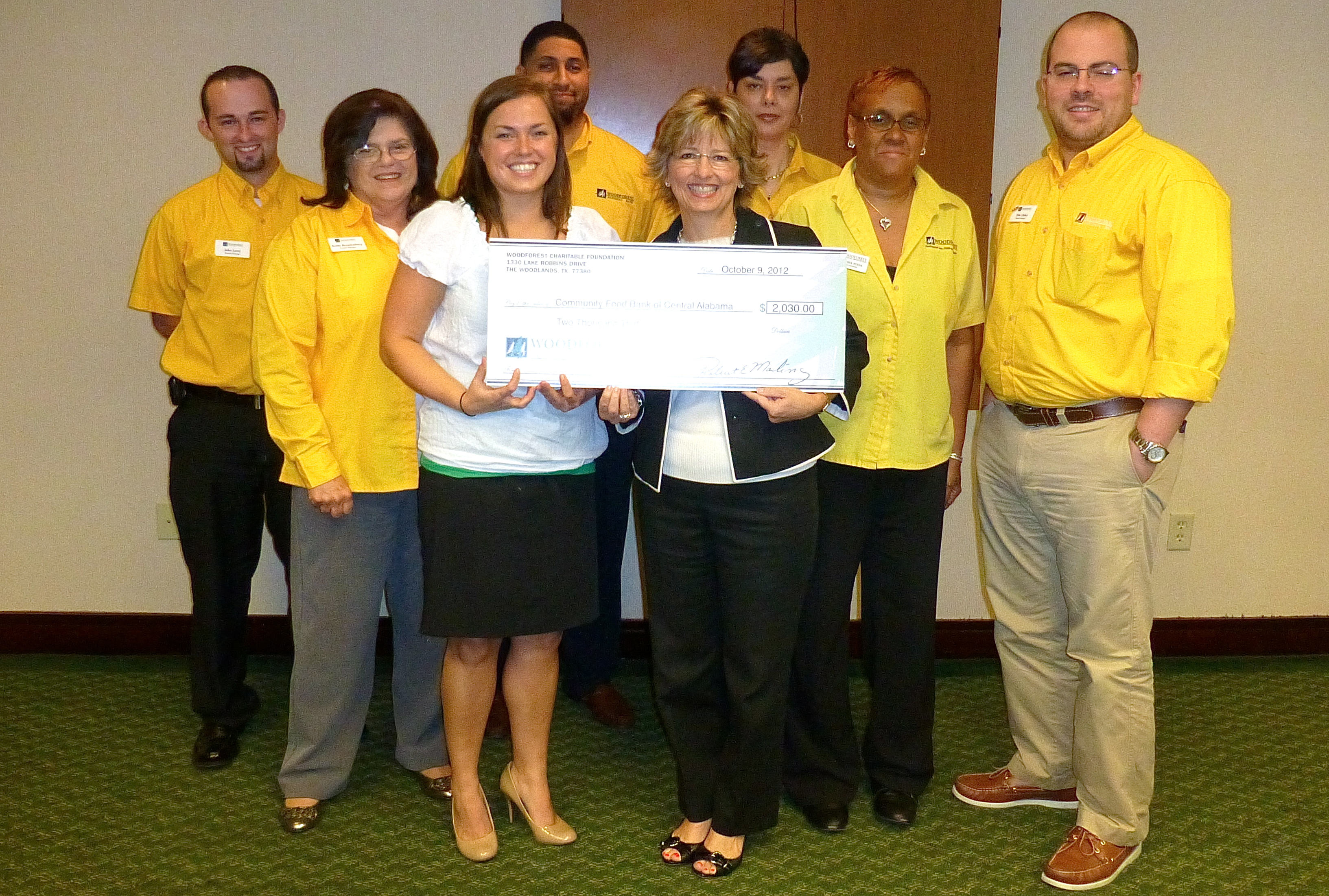 Community Food Bank of Central Alabama receives $2,030 donation from WCF.