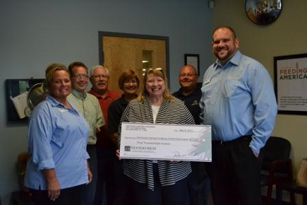 Community Harvest Food Bank of Northeast Indiana receives $3,800 donation from WCF.