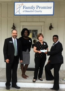 Family Promise of Beaufort County received a $500 donation from WCF.