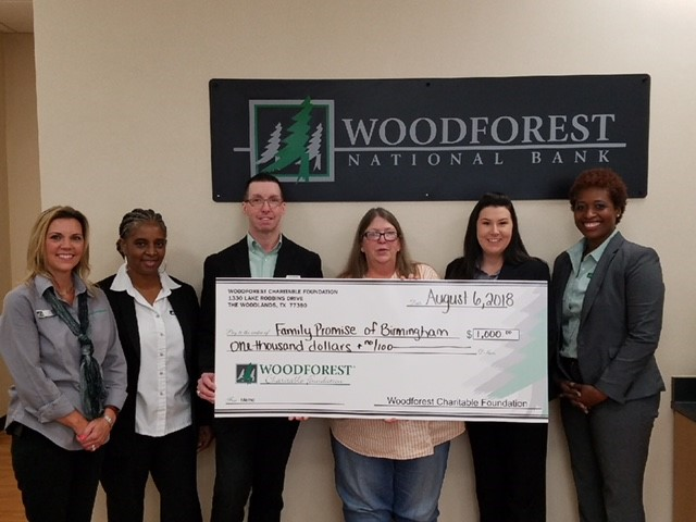 Family Promise of Birmingham received a $1,000 donation from WCF.