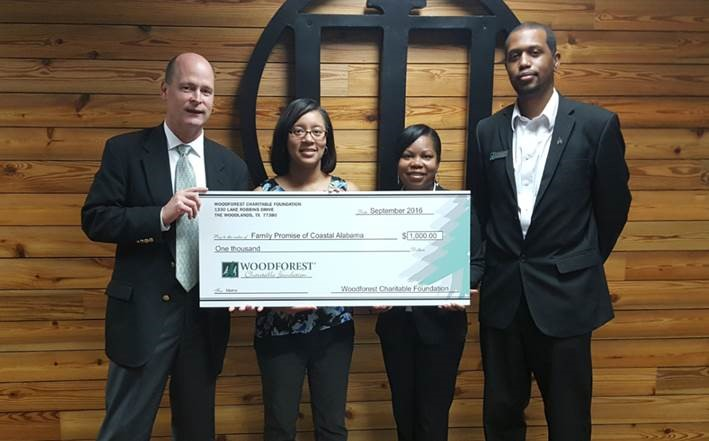 Family Promise of Coastal Alabama received $1,000 from WCF
