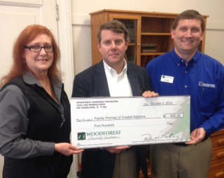 Family Promise of Coastal Alabama received a $500 donation from WCF.