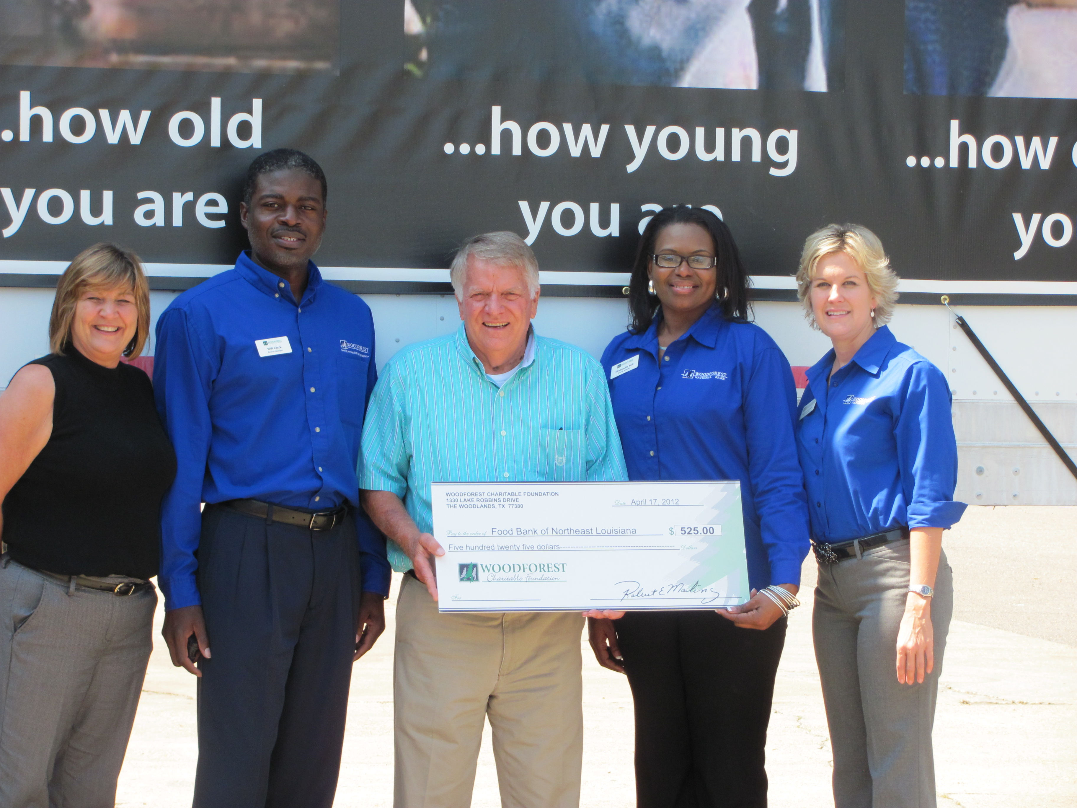 Food Bank of Northeast Louisiana receives $525 donation from WCF.