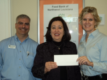 Food Bank of Northwest Louisiana Receives $200 Donation