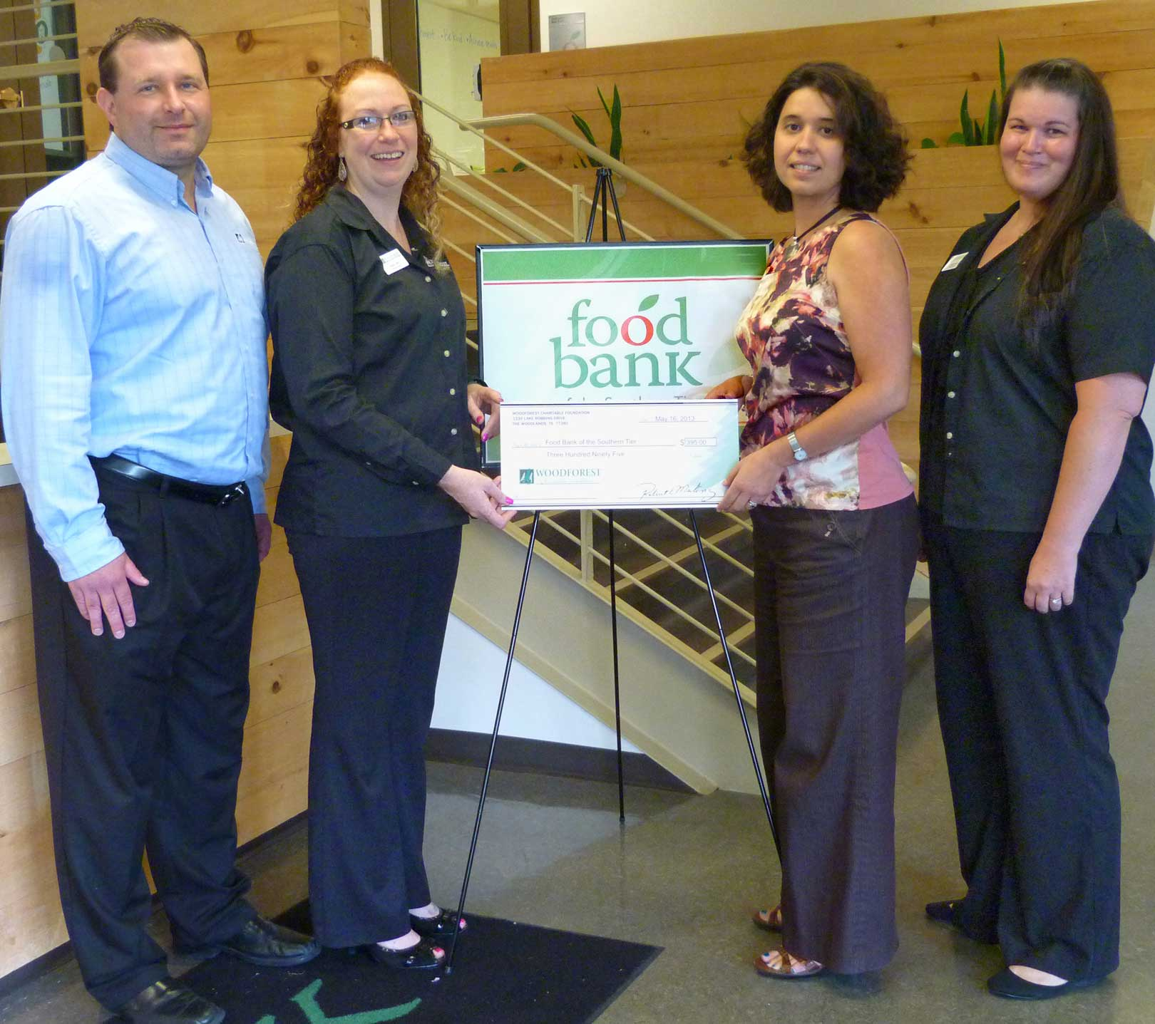 Food Bank of the Southern Tier recieves $395 donation from ...