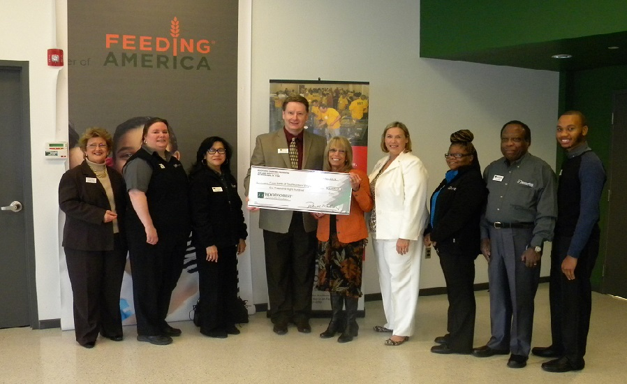 Foodbank of Southeastern Virginia recently received a $6,800 donation from WCF.