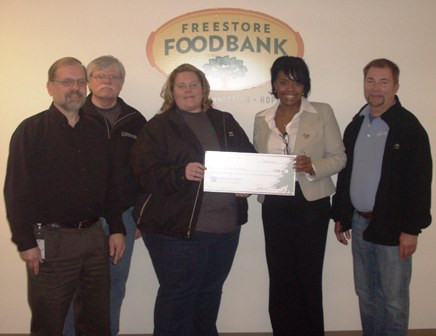 Freestore Food Bank Receives $550 Donation