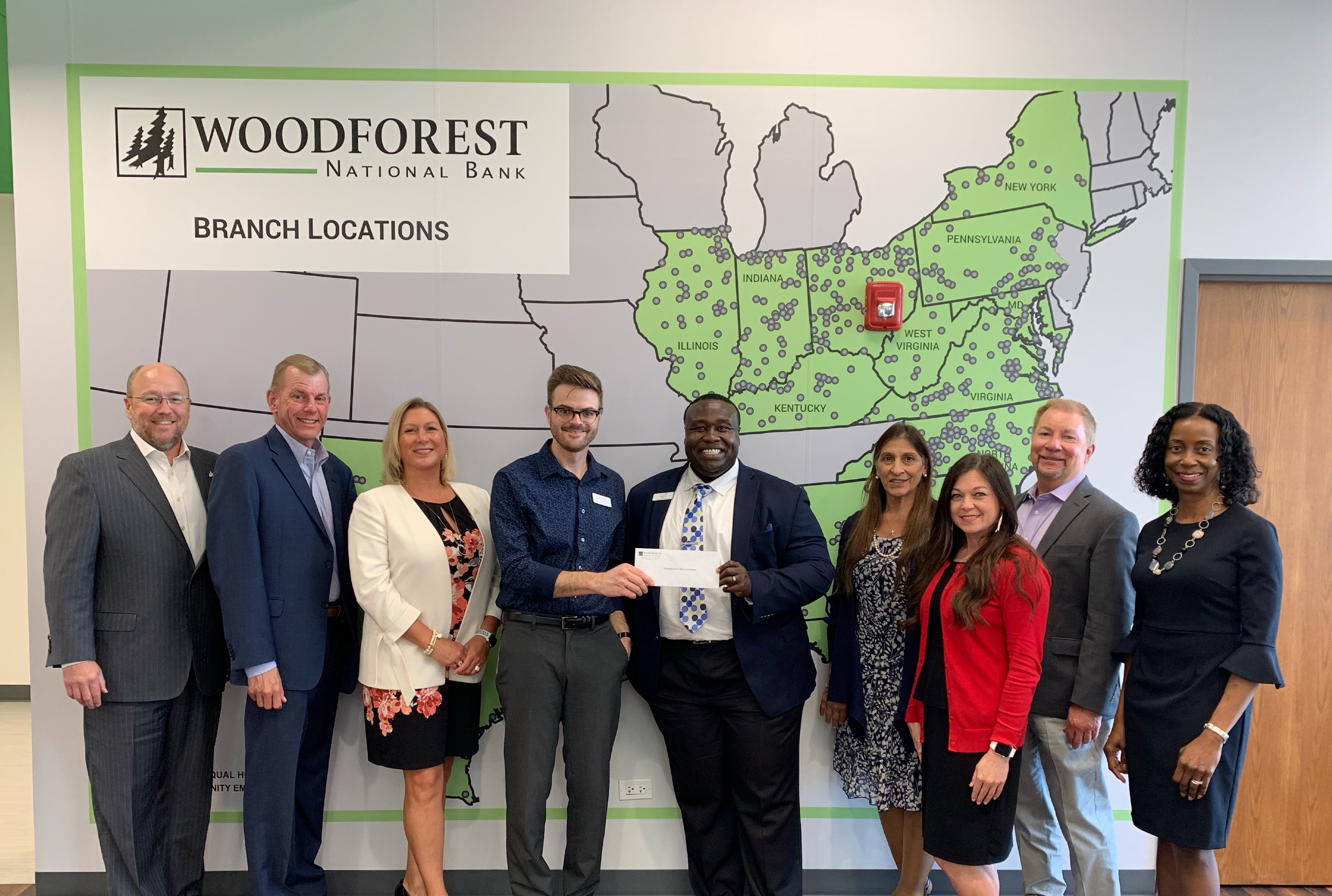 Gleaners Food Bank of Indiana recently received a donation from The Woodforest Charitable Foundation