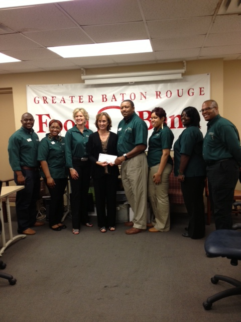 Greater Baton Rouge Food Bank receives $460 donation from Woodforest Charitable Foundation.
