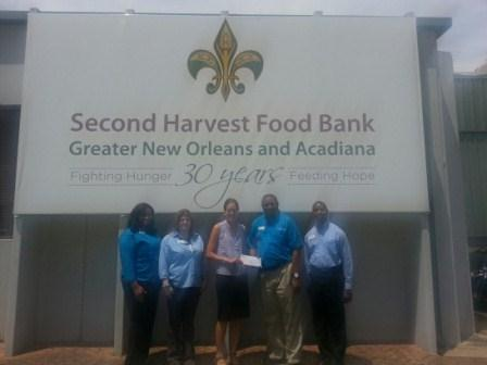 Second Harvest Food Bank of Greater New Orleans and Acadiana receives $2,760 donation from WCF.