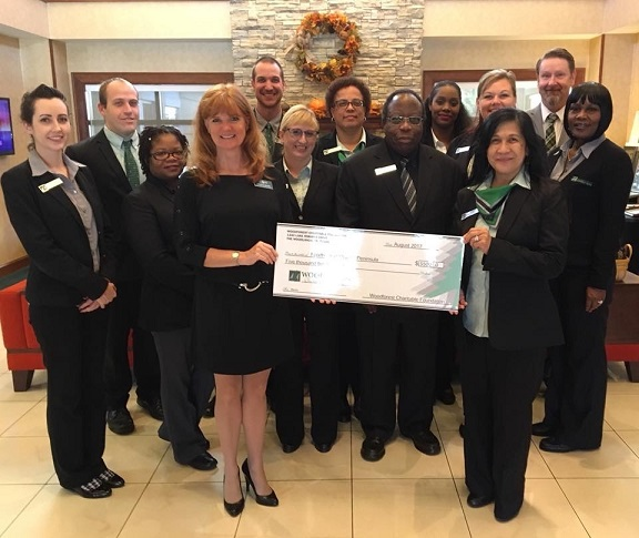 Foodbank of the Virginia Peninsula received a $5,500 donation from WCF.