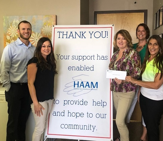 Humble Area Assistance Ministries received a $3,500 donation from WCF.