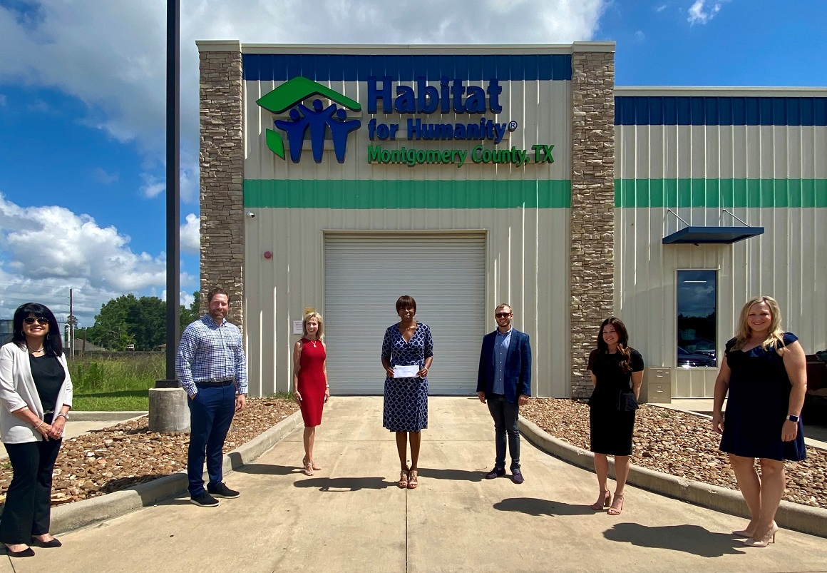 Habitat for Humanity recently received a donation from WCF.