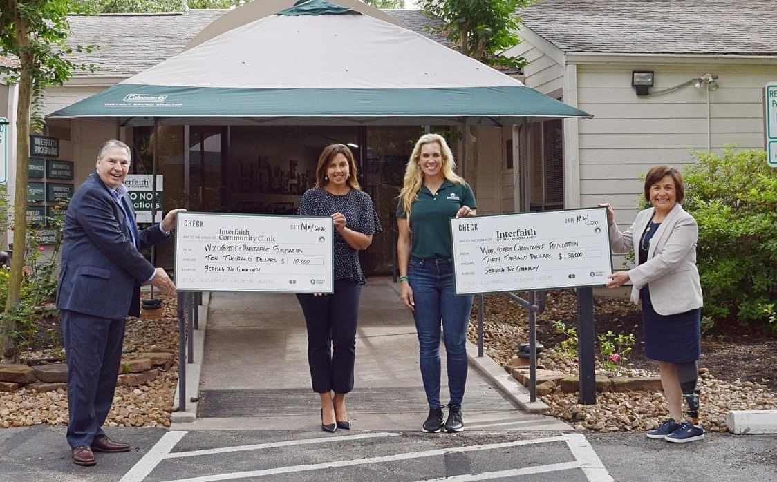 Interfaith The Woodlands recently received a $40,000 donation from WCF.