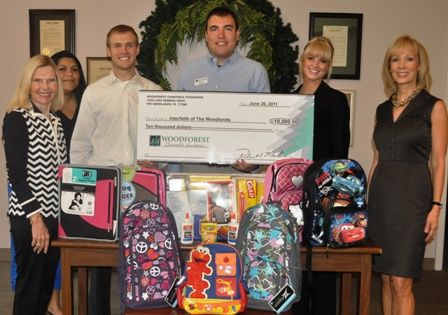 Interfaith of The Woodlands' Back-to-School Drive Receives $10,000 Donation