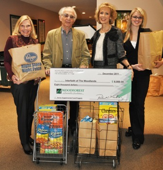 Interfaith of The Woodlands Receives $13,000 Donation
