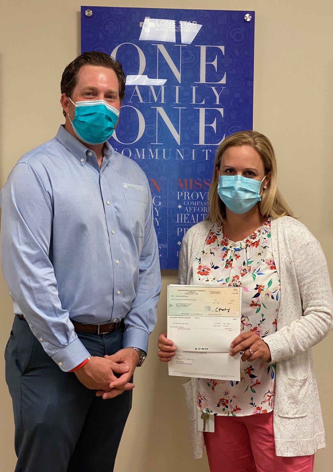 Lone Star Family Health Center recently received a $7,500 donation from WCF.