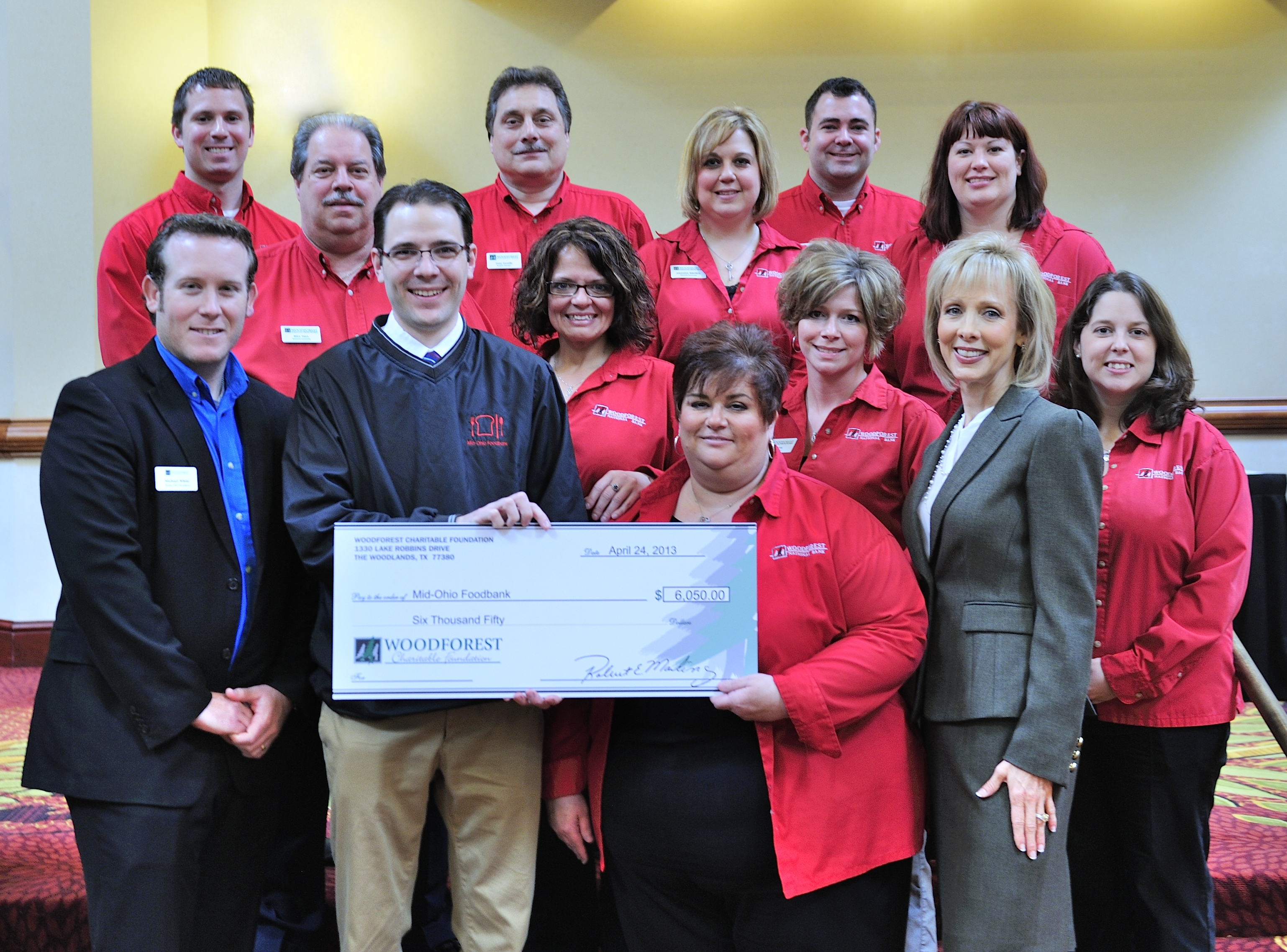 Mid-Ohio Food Bank receives $6,050 donation from Woodforest Charitable Foundation.