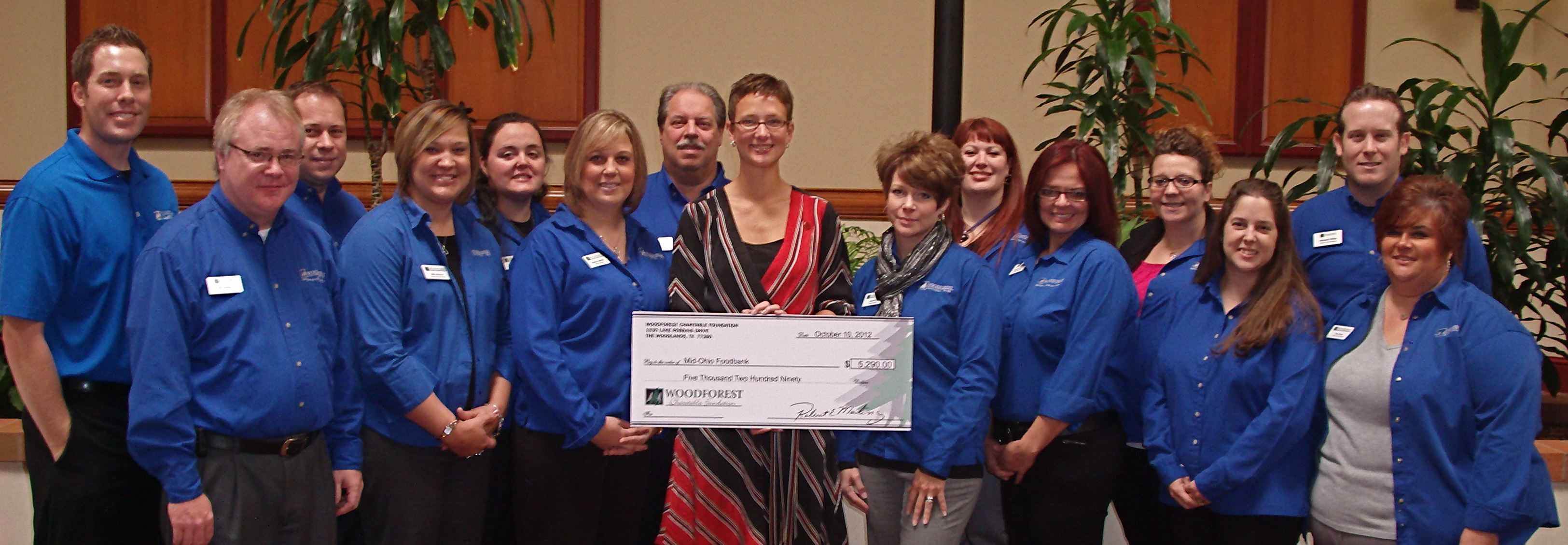 Mid-Ohio Foodbank receives $5,290 donation from Woodforest Charitable Foundation.