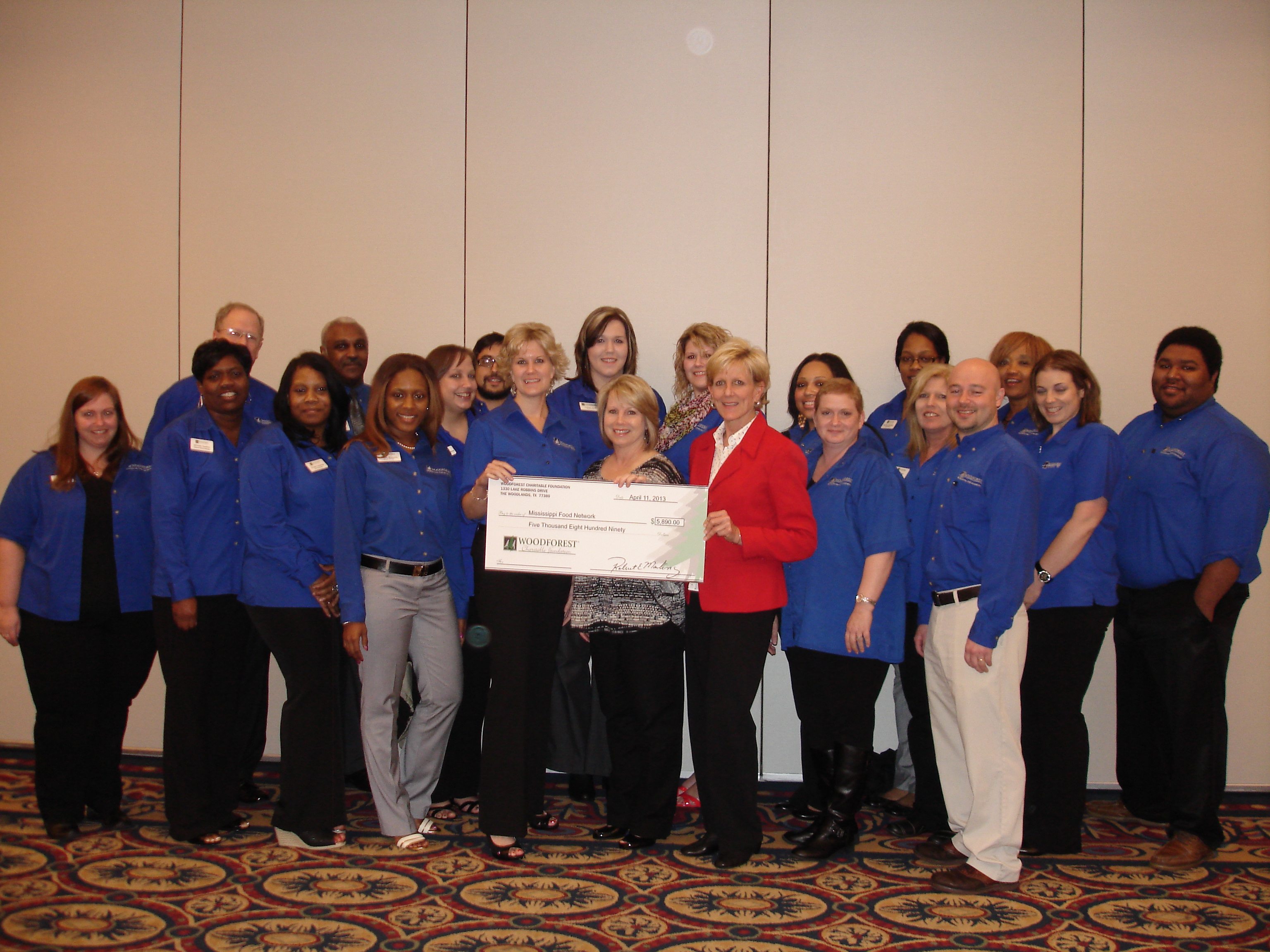 Mississippi Food Network receives $5,890 from Woodforest Charitable Foundation.