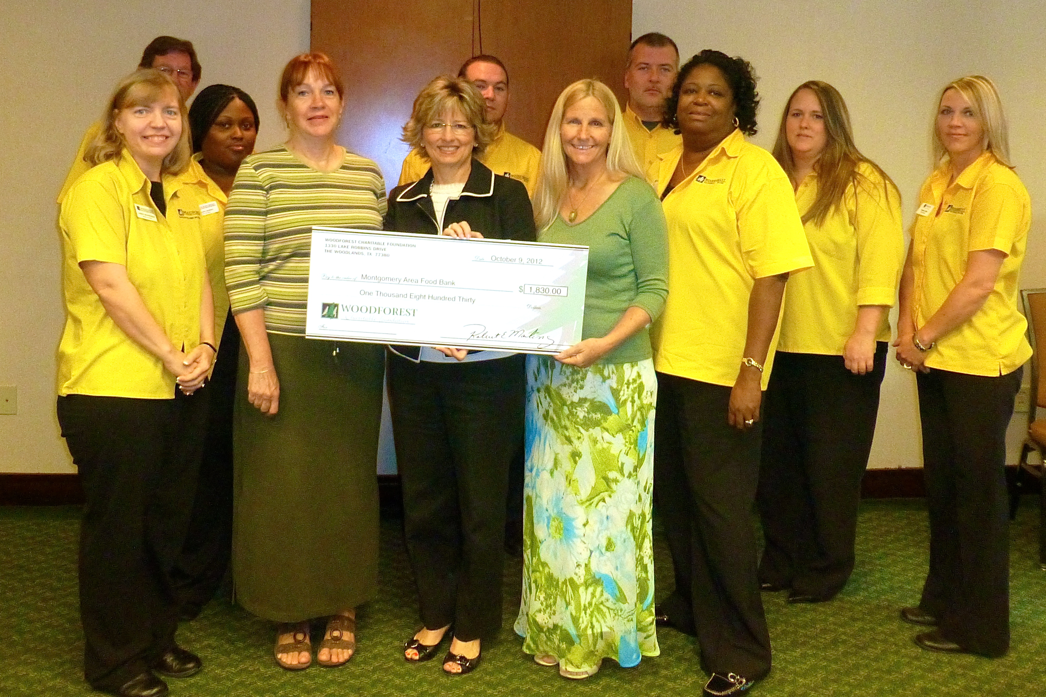 Montgomery Area Food Bank receives $1,830 donation from WCF.