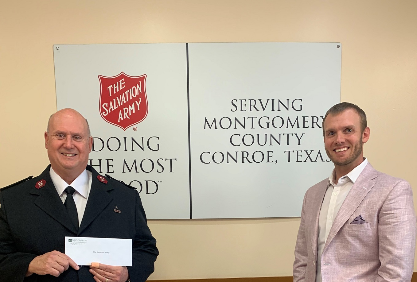 The Salvation Army recently received a $25,000 donation from WCF.