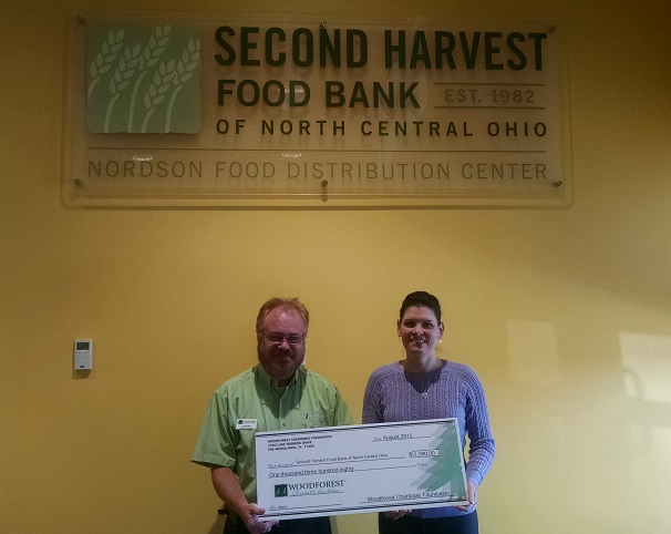 Second Harvest Food Bank of North Central Ohio received $1,840 from WCF.