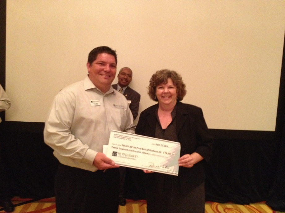 Second Harvest Food Bank of Northwest North Carolina receives $12,900 donation.