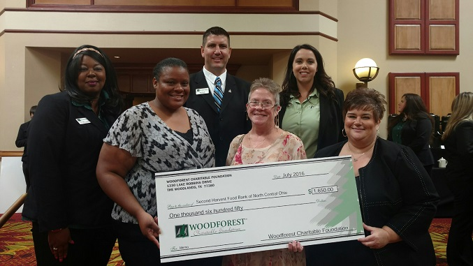 Second Harvest Food Bank of North Central Ohio received $1,650 from WCF.
