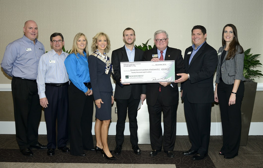Second Harvest Food Bank of Northwest North Carolina recently received a $20,800 donation from WCF.