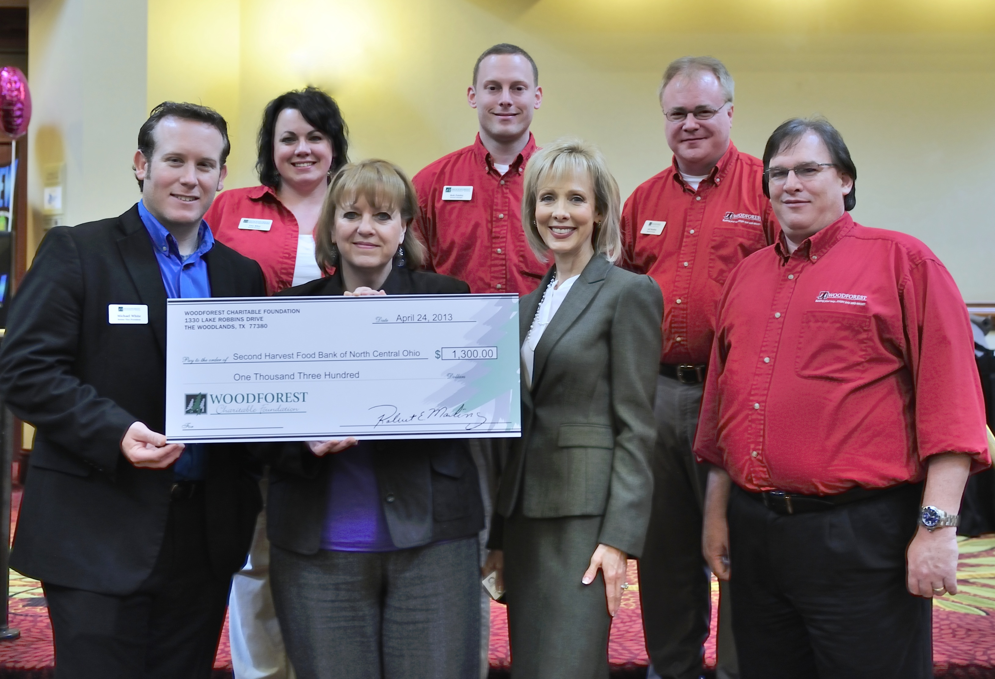Second Harvest Food Bank of North Central Ohio receives $1,300 donation from WCF.