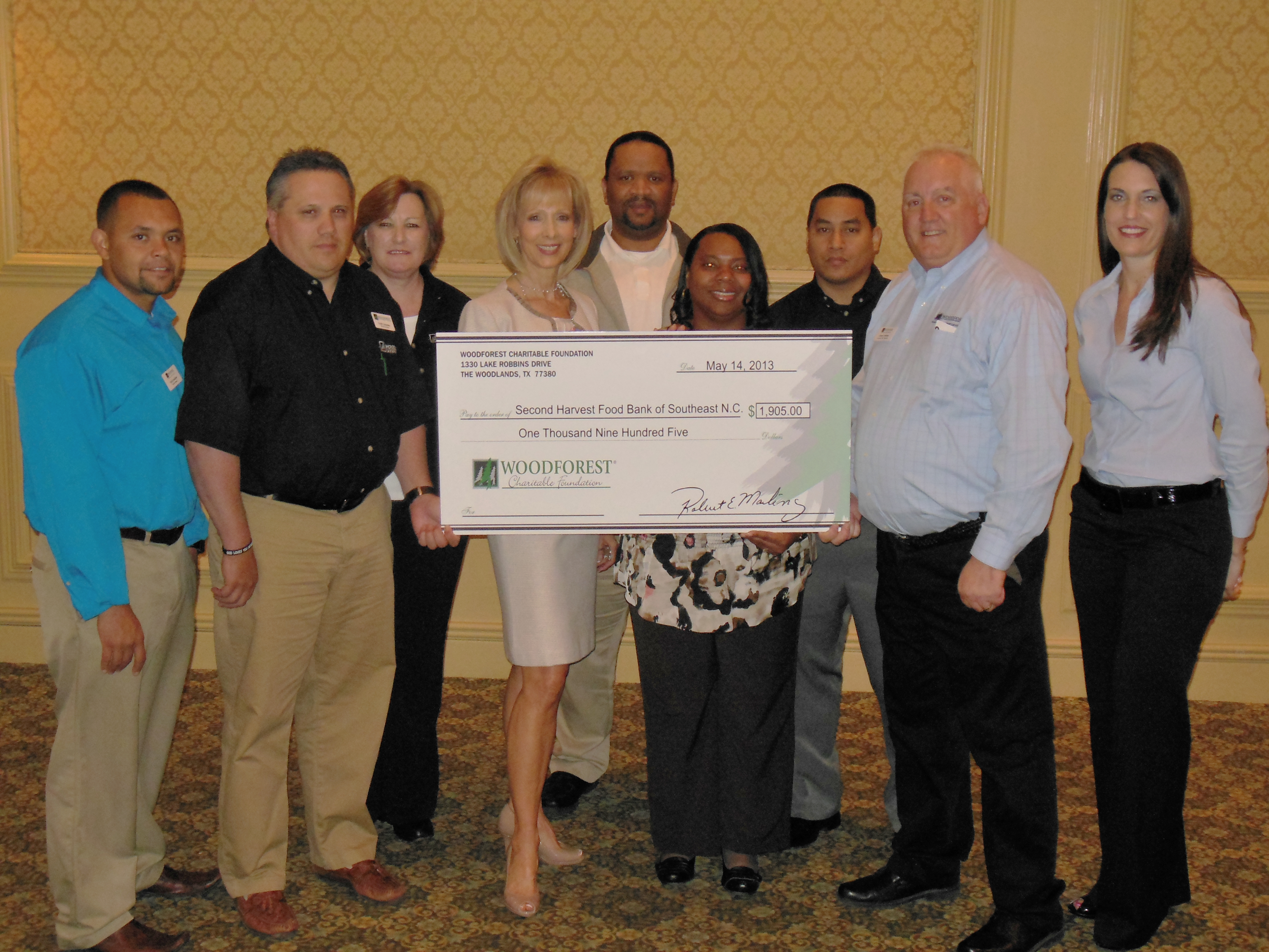 Second Harvest Food Bank of Southeast North Carolina receives $1,905 donation from WCF.