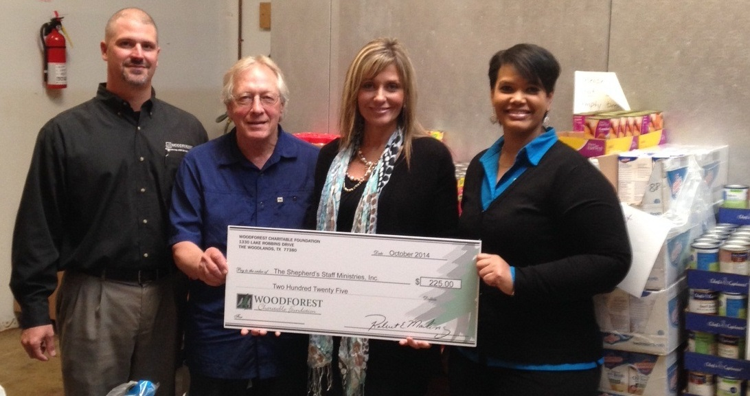 Shepard's Staff Ministries recently received a $225 donation from WCF.