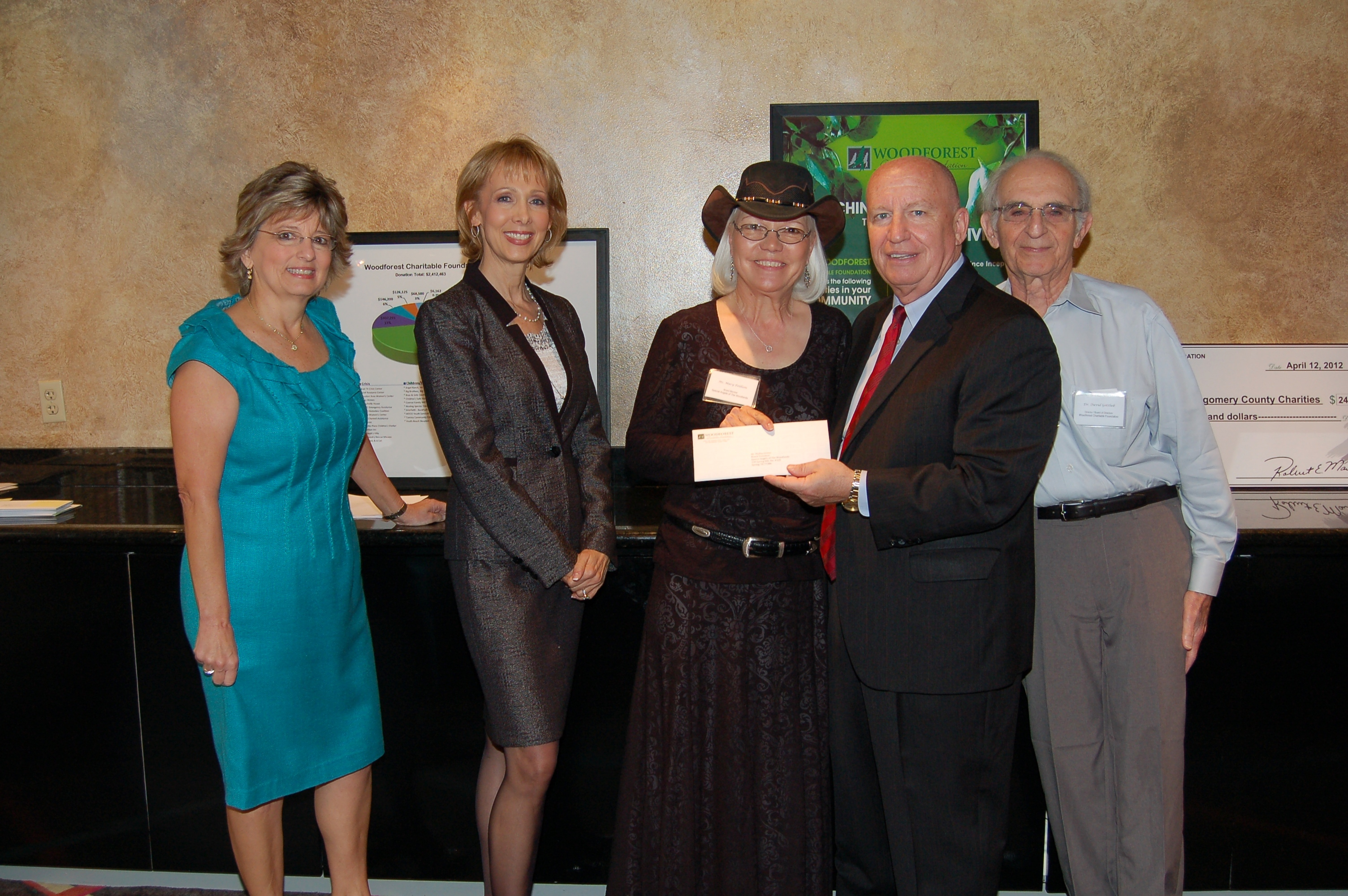 Special Angels of The Woodlands receives $5,000 donation from Woodforest Charitable Foundation.