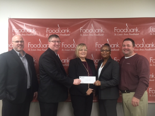 St. Louis Area Foodbank received a $6,100 donation from WCF.