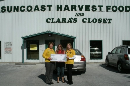 Suncoast Harvest Food Bank Receives $185 Donation