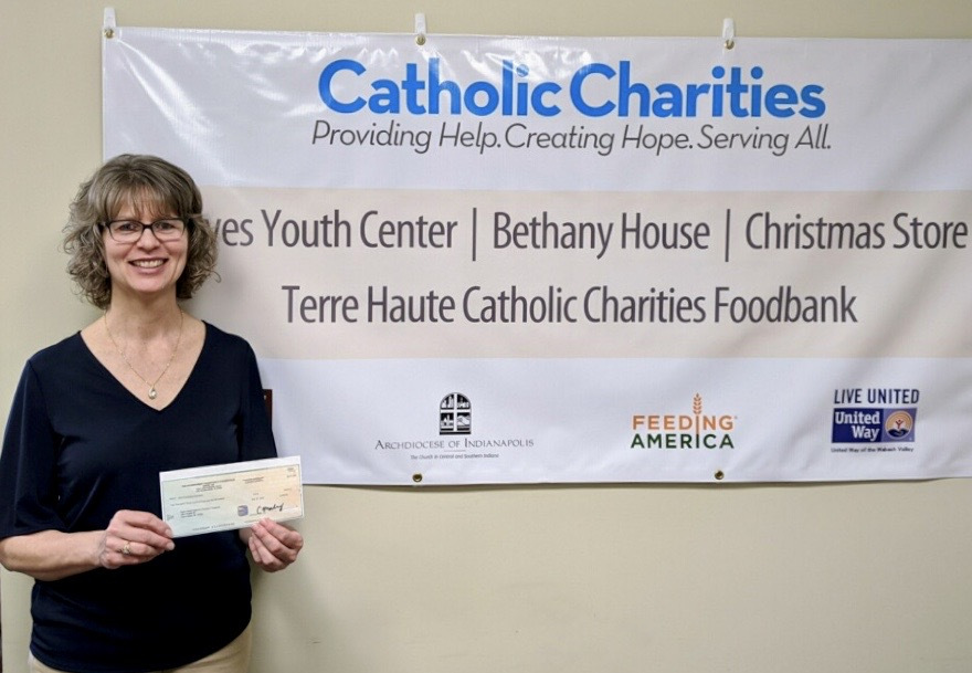 Terre Haute Catholic Charities Food Bank recently received a $2,340 donation from WCF.