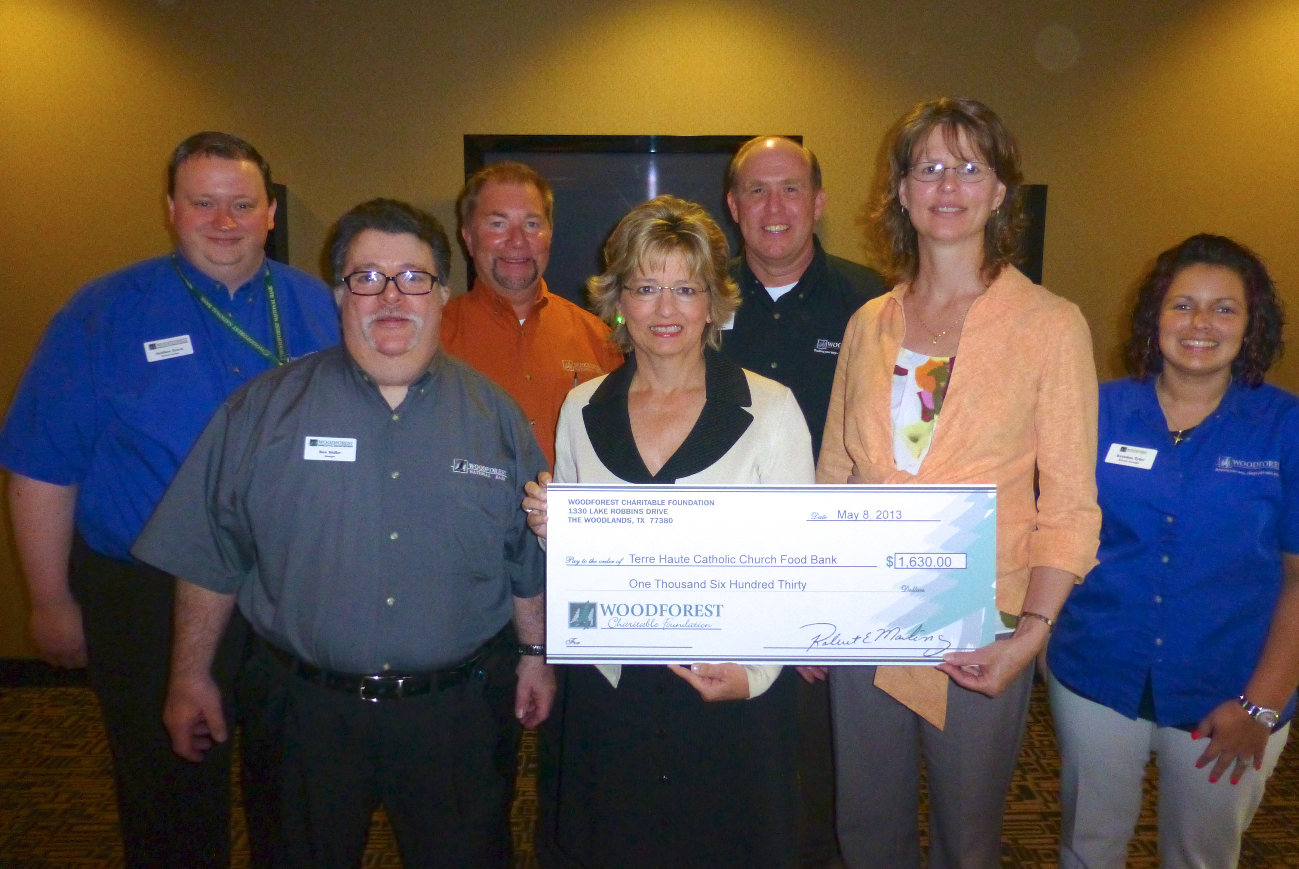 Terre Haute Catholic Charities Foodbank receives $1,630 donation from WCF.