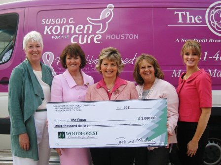 The Rose Receives $3,000 Donation