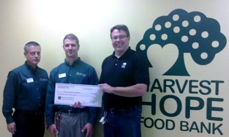 Harvest Hope Food Bank Receives $2,700 Donation